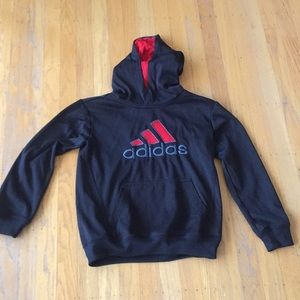 Adidas hoody black red sz S quick drying versatile